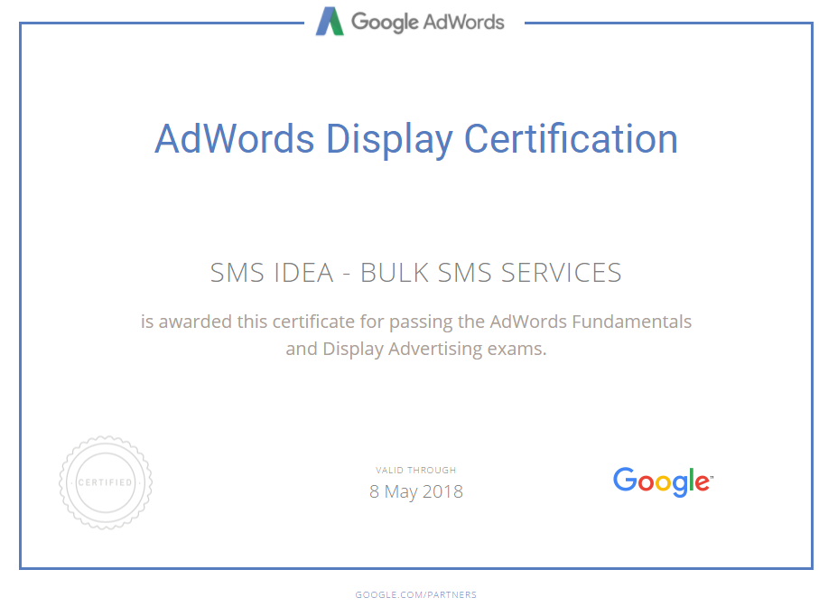 AdWords Display Certification